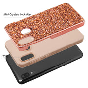 Hybrid Bling Rose Gold Case Samsung A20/50 - Bling Cases.com
