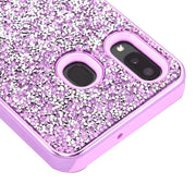 Hybrid Bling Purple Case Samsung A20/50 - Bling Cases.com