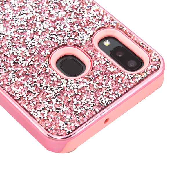 Hybrid Bling Pink Case Samsung A20/50 - Bling Cases.com