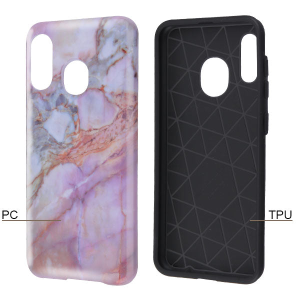 Hybrid Marble Purple Peach Case Samsung A20/A50 - Bling Cases.com