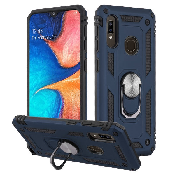 Hybrid Ring Blue Case Samsung A20/A50 - Bling Cases.com