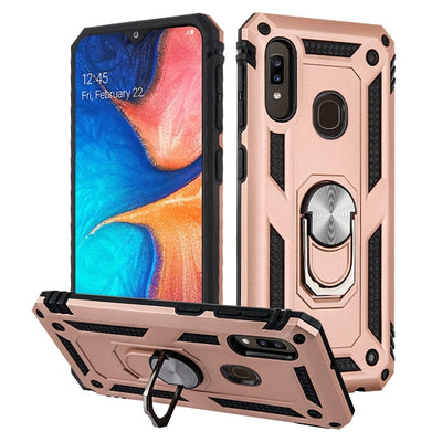 Hybrid Ring Rose Gold Case Samsung A20/A50 - Bling Cases.com