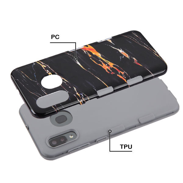 Hybrid Marble Black Gold Case Samsung A20/A50 - Bling Cases.com