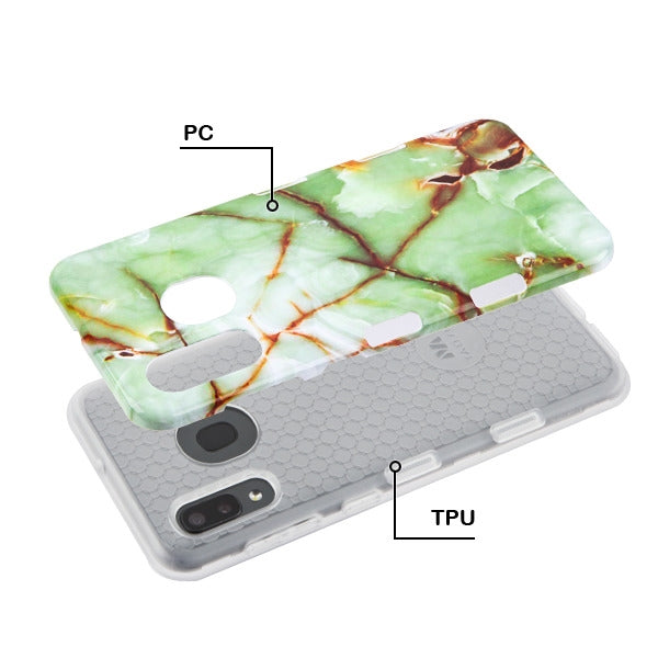 Hybrid Marble Green Case Samsung A20/A50 - Bling Cases.com