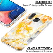 Hybrid Yellow Grey Case Samsung A20/A50 - Bling Cases.com