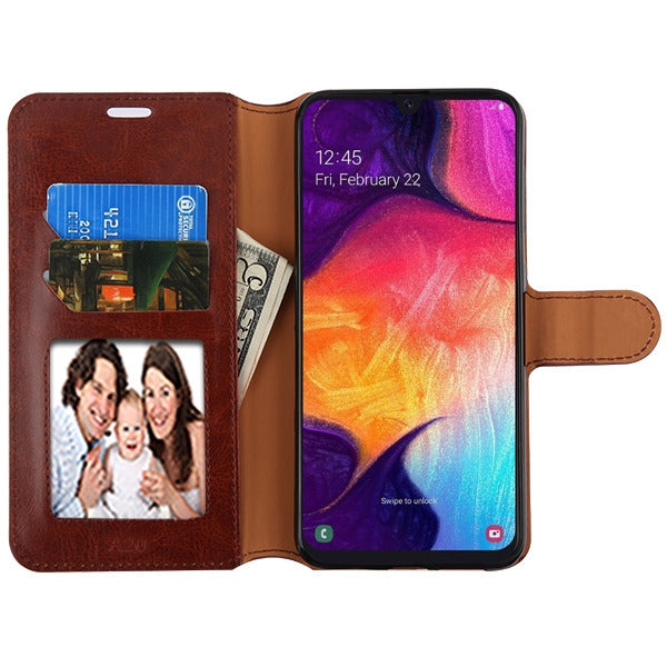 Wallet Brown Samsung A20/A50 - Bling Cases.com