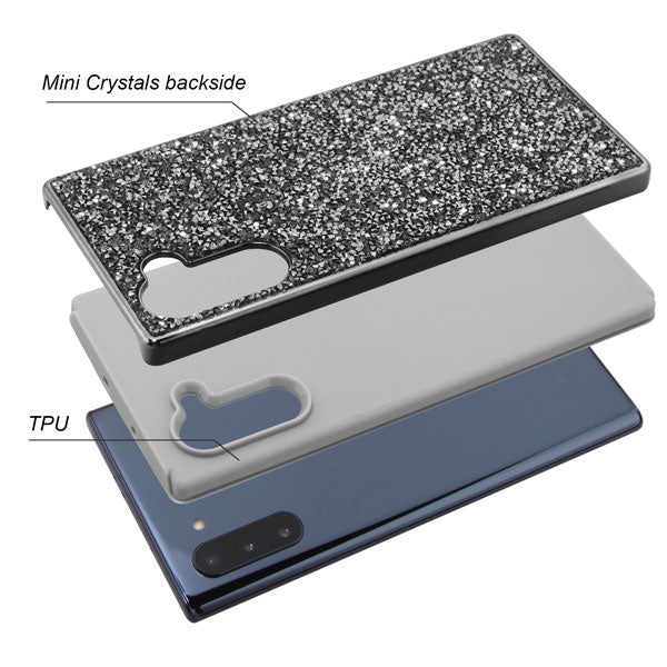 Hybrid Bling Grey Case Samsung Note 10 - Bling Cases.com