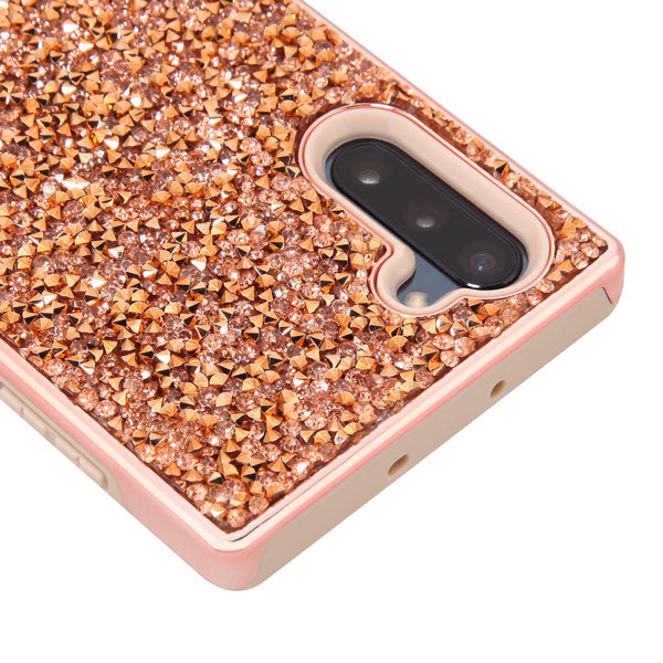 Hybrid Bling Rose Gold Case Samsung Note 10 - Bling Cases.com
