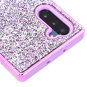 Hybrid Bling Purple Case Samsung Note 10 - Bling Cases.com