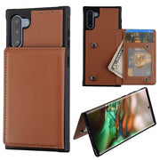 Card Stand Brown Case Samsung Note 10 - Bling Cases.com