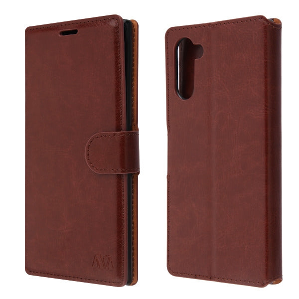 Wallet Brown Samsung Note 10 - Bling Cases.com