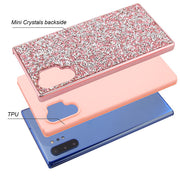 Hybrid Bling Pink Case Note 10 Plus - Bling Cases.com