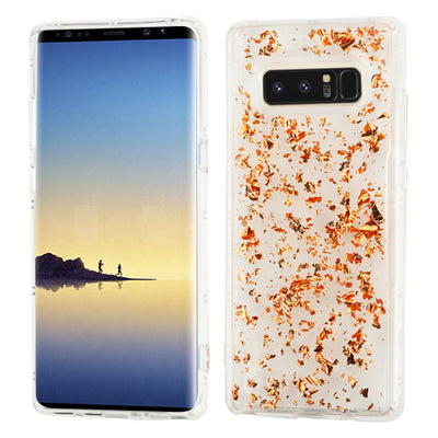 Flakes Rose Gold Clear Skin Samsung Note 8 - Bling Cases.com