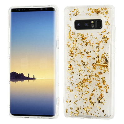 Flakes Gold Clear Skin Samsung Note 8 - Bling Cases.com