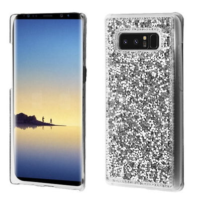 Bling Metal Silver Case Samsung Note 8 - Bling Cases.com
