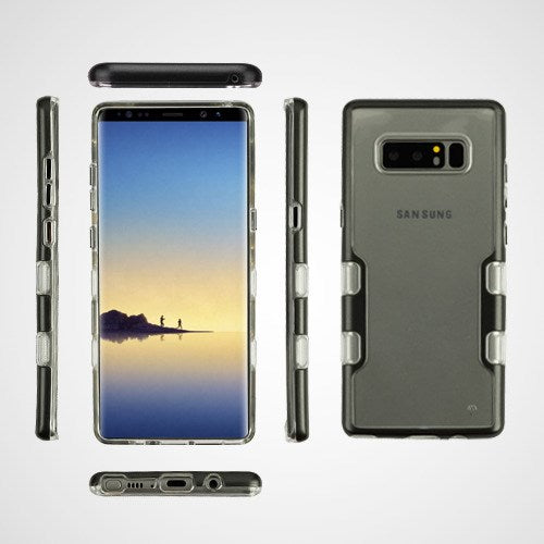 Hybrid Clear Black Case Samsung Note 8 - Bling Cases.com