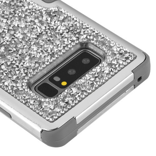 Hybrid Bling Silver Case Samsung Note 8 - Bling Cases.com