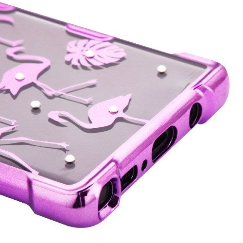 Flamingos Clear Case Samsung Note 9 - Bling Cases.com