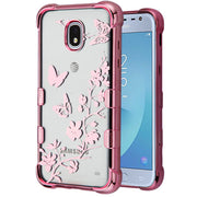 Butterflies Clear Rose Gold Case J3 2018 - Bling Cases.com