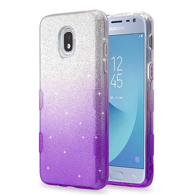 Glitter Purple Case J3 2018 - Bling Cases.com