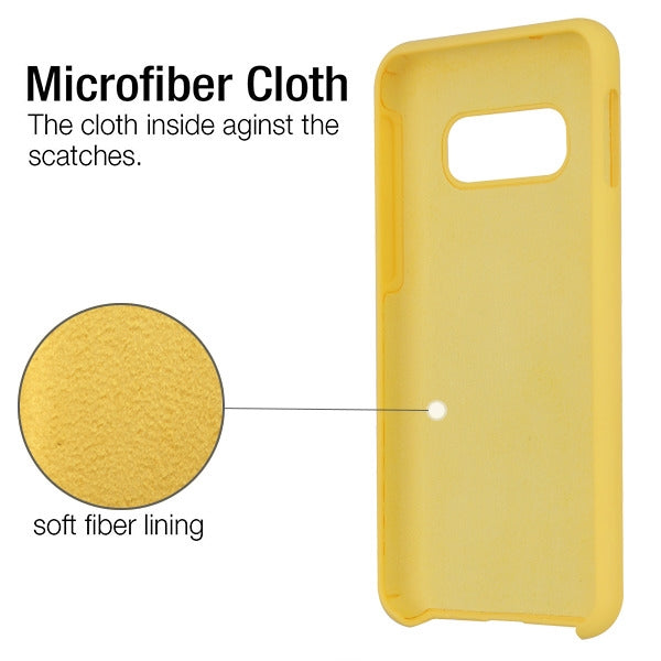 Silicone Skin Yellow Samsung S10E - Bling Cases.com