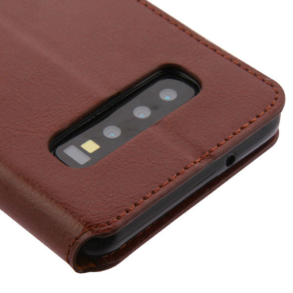 Wallet Brown Samsung S10 - Bling Cases.com
