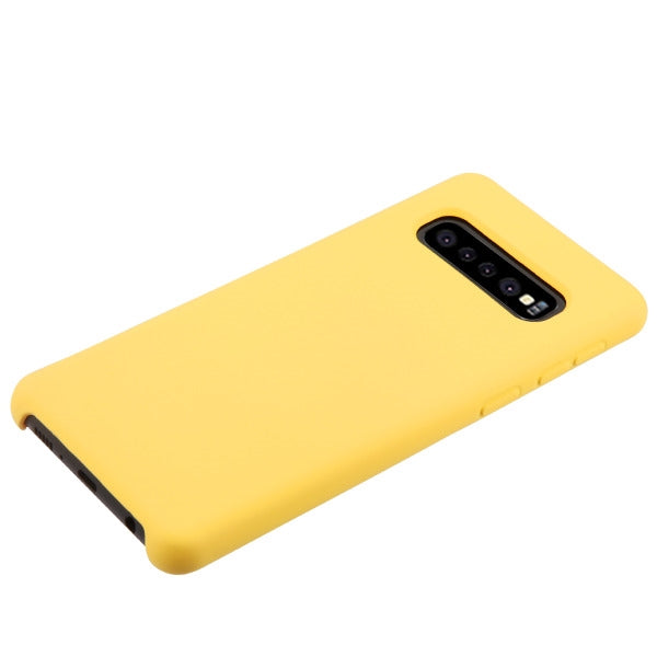 Silicone Skin Yellow Samsung S10 Plus - Bling Cases.com
