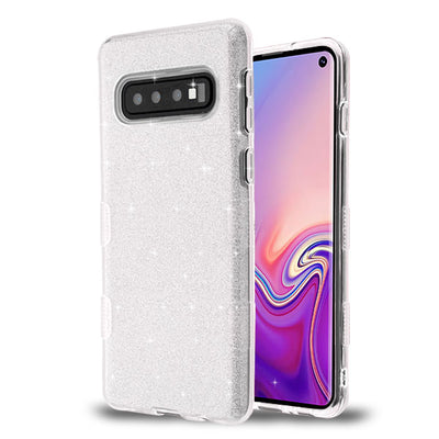 Glitter Silver Case Samsung S10 Plus - Bling Cases.com