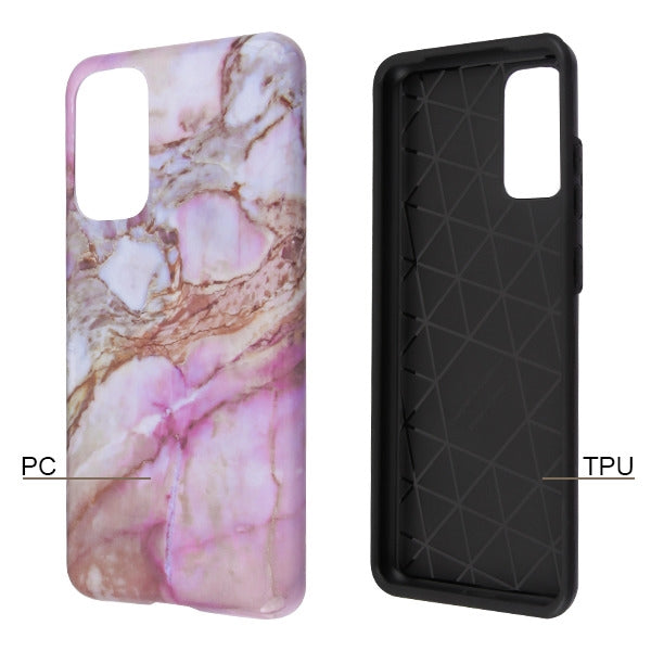 Hybrid Marble Purple Peach Samsung S20 - Bling Cases.com