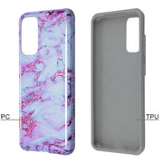 Hybrid Marble Purple White  Samsung S20 - Bling Cases.com