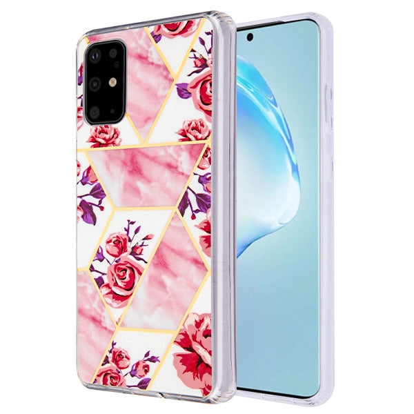 Marble Roses Pink Case Samsung S20 Plus - Bling Cases.com