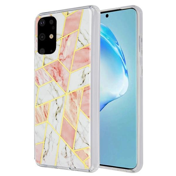 Marble Pink White Samsung S20 Plus