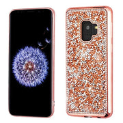 Bling Chrome Rose Gold Case Samsung S9 - Bling Cases.com