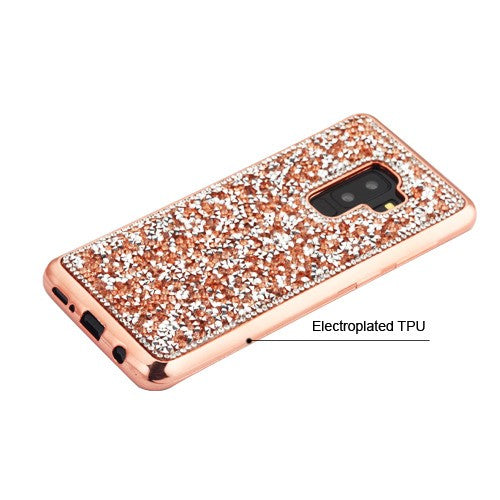 Bling Chrome Rose Gold Samsung S9 Plus - Bling Cases.com
