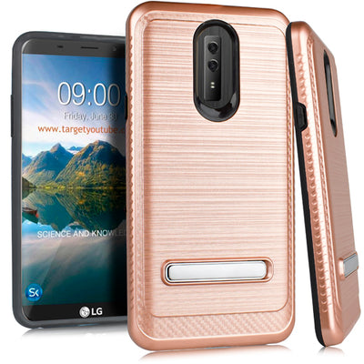 Kick Stand Case Rose Gold Lg Stylo 4 - Bling Cases.com