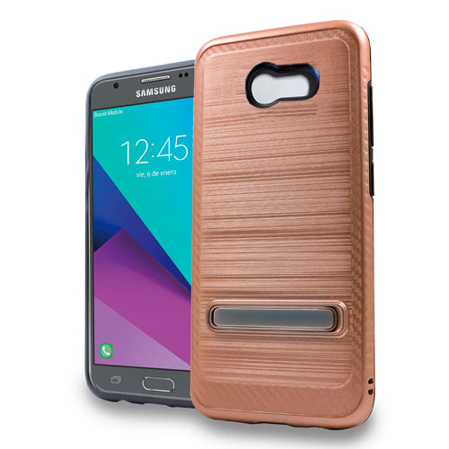 Kickstand Case Rose Gold J3 2017 - Bling Cases.com