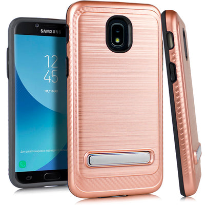 Kickstand Case Rose Gold J3 2018 - Bling Cases.com
