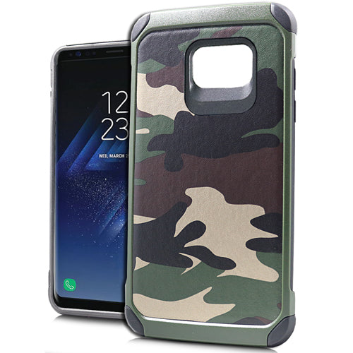 Hybrid Green Camo Case Samsung S8 - Bling Cases.com