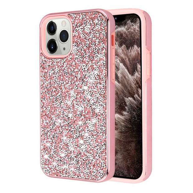 Hybrid Bling Pink IPhone 11 Pro Max - Bling Cases.com