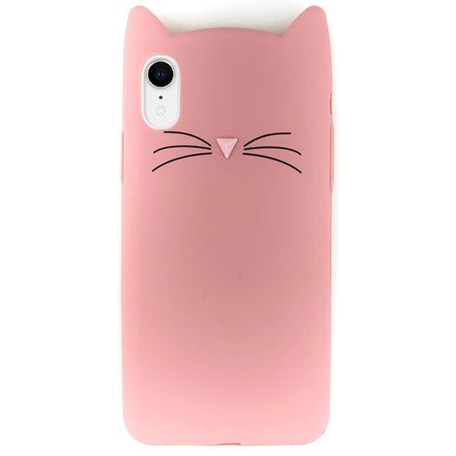 Silicone Skin Cat Pink IPhone XR - Bling Cases.com