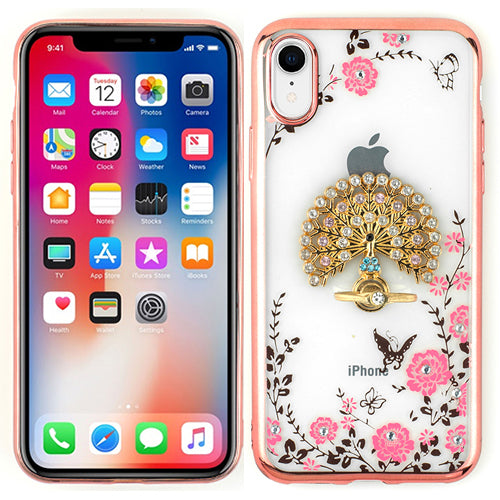 Peacock Ring Holder Case IPhone XR