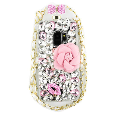 Handmade Flower Bling Bottle Samsung S9