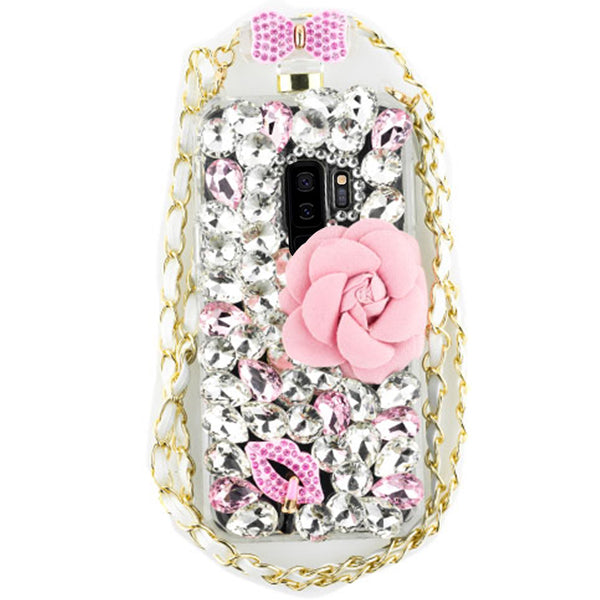 Handmade Flower Bling Bottle Case Samsung S9 Plus
