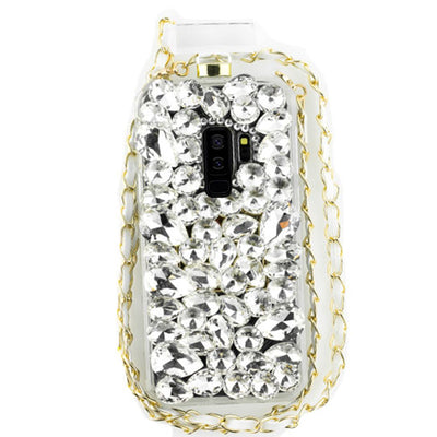 Handmade Silver Stones Bling Bottle Case Samsung S9 Plus