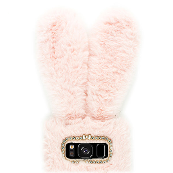 Bunny Fur Pink S8 Plus