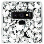 Handmade Bling Silver Stones Case Note 9