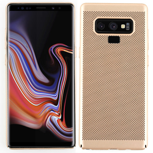 Super Thin Rubberized Gold Case Note 9