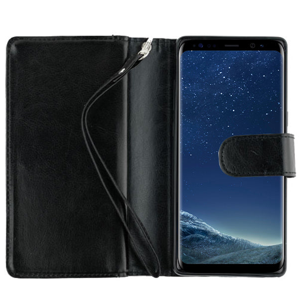 Fur Grey Wallet Detachable S8 Plus