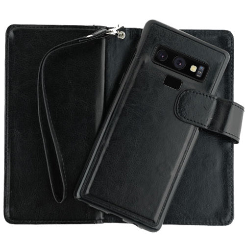 Handmade Bling Black Wallet Detachable Note 9
