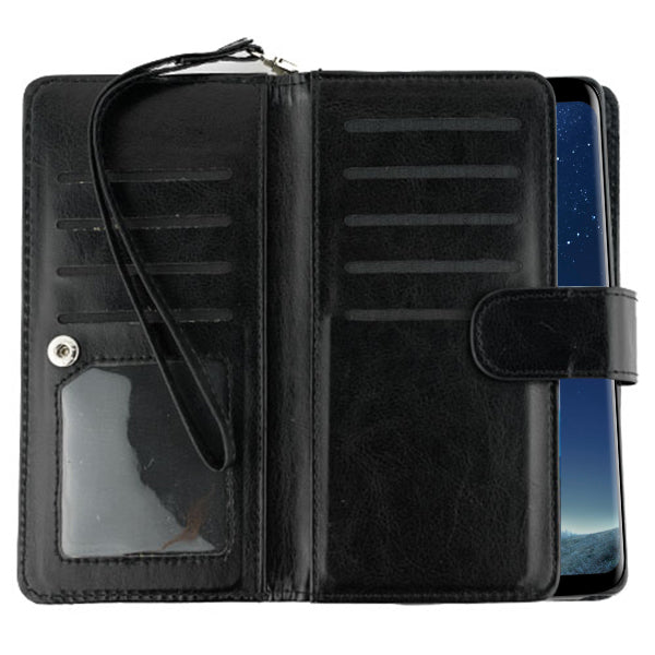 Fur Black Wallet Detachable S8